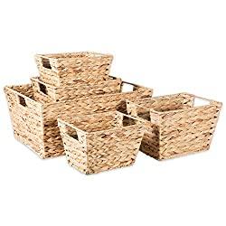 Divine Style Amazon organization/closet products, Hyacinth Woven Storage Baskets