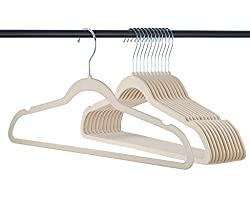 Divine Style Amazon organization/closet products, Velvet Non-Slip Slim Hangers