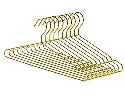 Divine Style Amazon organization/closet products, gold slim metal hangers