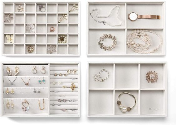 Divine Style Amazon organization, closet products, stackable jewelry trays