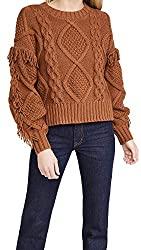 Divine Style Amazon women's, Line & Dot Jasper fringe sweater