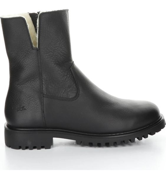 Winter Snow Day Style...What to Wear in Chilly Temps, booted in style, Bos and Co Derek waterproof wool black boot