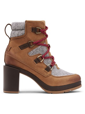 Winter Snow Day Style...What to Wear in Chilly Temps, Booted in Style, Sorel Blake Lace-Up Leather & Felt Hiking Boots velvet tan