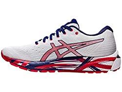 Divine Style Amazon men's spring fashion, Asics Gel-Cumulus 22 white/red running shoes