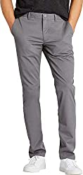 Divine Style Amazon men's gray stetch washed chino