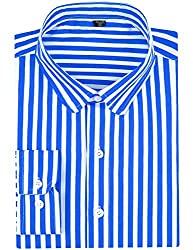 Divine Style Amazon women's spring fashion, blue/white striped shirt