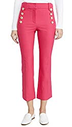 Divine Style Amazon women's spring fashion, Derek Lam Crosby pink cropped sailor pants