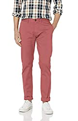 Divine Style Amazon men's spring fashion, J.Crew Mercantile Men's Slim-fit Stretch Chino Pant dusty red