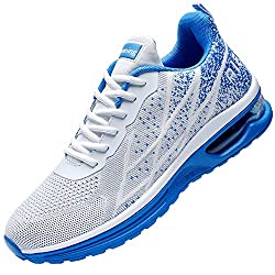 Divine Style Amazon men's spring fashion, JARLIF Men's Lightweight Athletic Running Shoes Breathable Sport Air Fitness Gym Jogging Sneakers blue and white
