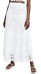 Divine Style Amazon women's spring fashion, Melissa Odabash white eyelet Alessia skirt
