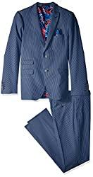 Divine Style Amazon men's spring fashion, Paisley & Gray Men's Ashton Slim Fit Suit blue