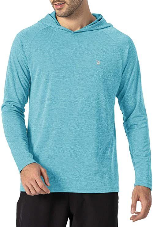 Divine Style Amazon men's spring fashion, men's sky blue workout hoodie