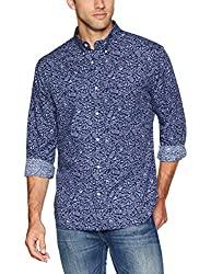 Divine Style Amazon men's spring fashion, Reyn Spooner Men's Long Sleeve Hawaiian Shirt, men's blue print shirt