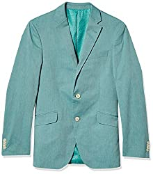 Divine Style Amazon men's spring fashion, Unlisted by Kenneth Cole Men's Stretch Chambray Blazer teal green