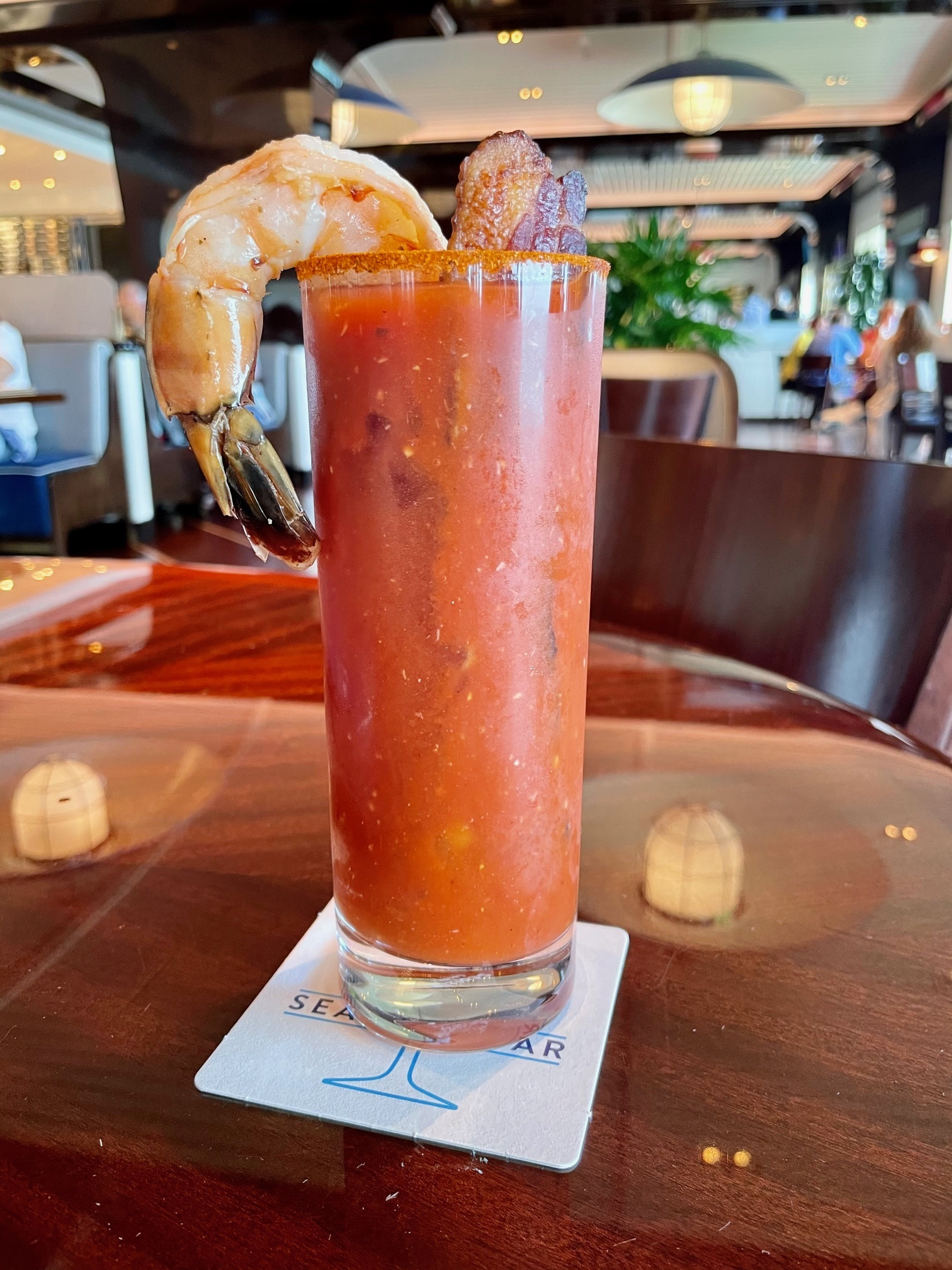 Where to Get Drinks in Palm Beach, Sip Swanky Cocktails, Bloody Mary at The Seafood Bar The Breakers