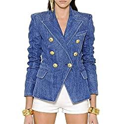 Divine Style Amazon women's spring fashion, denim blazer
