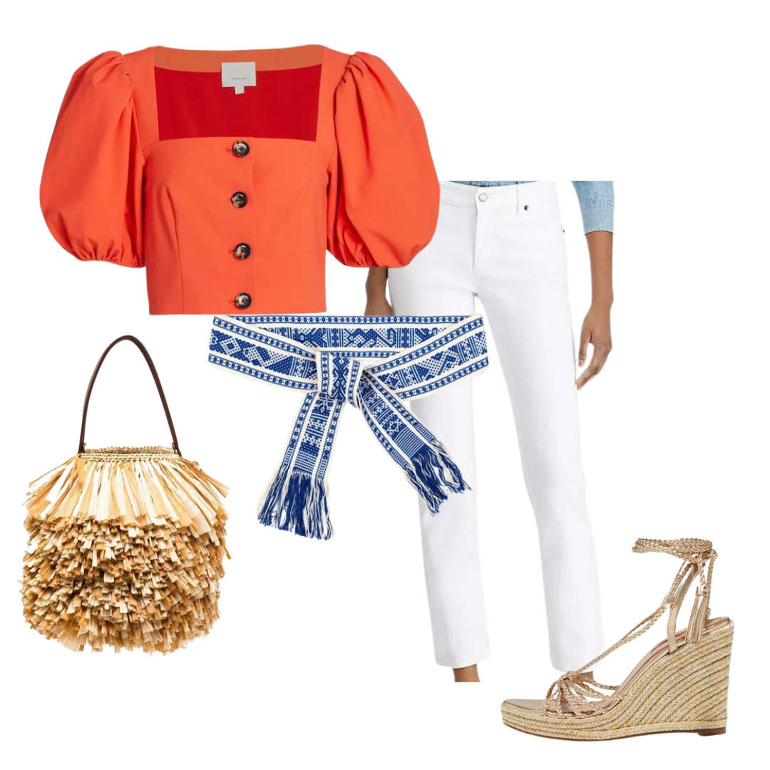 How to Style Jeans 4 Ways for Spring, Women's straight leg jeans, women's white jeans outfit
