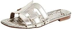 Divine Style Amazon women's spring fashion, Sam Edelman Women's Bay Classic Slide Sandal gold leather