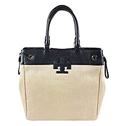 Divine Style Amazon women's spring fashion, Tory Burch straw tote bag with black