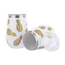 Divine Style Amazon Picks for kitchen, Pineapple white stainless steel tumblers