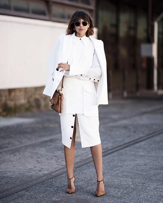 What Should Be On Your Style Radar for Spring, White, Bright and Irresistibly White outfits, women's all white outfit