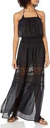 Divine Style Amazon women's summer essential, Ramy Brook Women's Embroidered black Isadora Maxi Dress