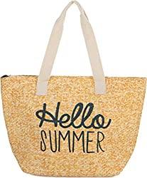 Divine Style Amazon women's summer essentials, Hello Summer straw bag
