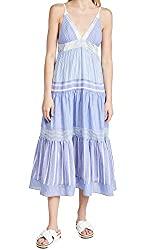 Divine Style Amazon women's summer essentials, Le Superbe Women's Getting Vertical Beach blue and white striped dress