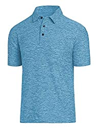 Divine Style Amazon Men's Summer Essentials, COSSNISS Store Men's Dry Fit Golf Polo Shirt blue