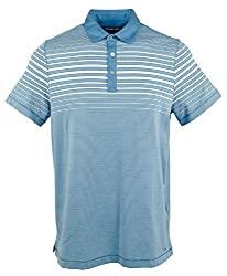 Divine Style Amazon Men's Summer Essentials, Michael Kors Men's Stripes Lightweight Polo Shirt ocean blue