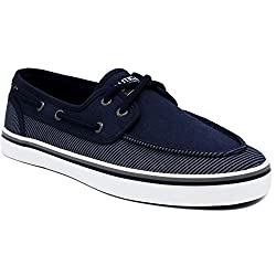 Divine Style Amazon Men's Summer Essentials, Nautica Men's Spinnaker Lace-Up Boat Shoe, Casual Loafer in navy stripe