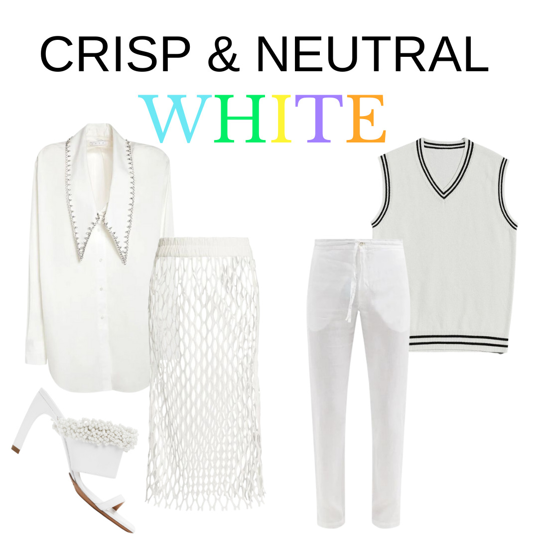 Summer Uniforms, Crisp and Neutral White Outfits