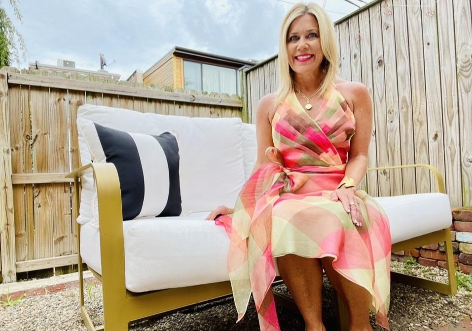 Summer Uniforms, Divine Style, personal stylist, Kelley Kirchberg, chiffon print sundress